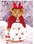 Click here to enlarge image and see more about item BB27: Bearington Plush Teddy Bear HOLLY BELLE