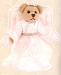 Click here to enlarge image and see more about item BB43: Bearington Teddy Bear Angel SERENDIPITY