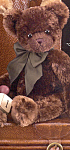 Click here to enlarge image and see more about item BB47: Bearington Teddy Bear CHOCOLATE