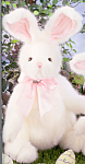 Click here to enlarge image and see more about item BB51: Bearington Plush Bunny Rabbit RIBBONS