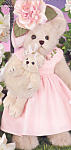 Click here to enlarge image and see more about item BB57: Bearington Teddy Bear MOTHER LOVE and BABY HUGS