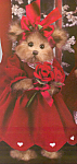 Click here to enlarge image and see more about item BB64: Bearington Valentine Collectible Teddy Bear Rosie