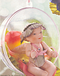 Click here to enlarge image and see more about item CCDOLL6: Cottage Collectibles Porcelain Doll Ornament REVERENCE