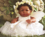Click to view larger image of Berenguer African American Little Angel Doll (Image1)