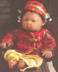 Click here to enlarge image and see more about item JCTBER3: Berenguer Oriental Doll BABY OLIVIA