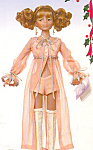 Click here to enlarge image and see more about item KWDD4: Knickerbocker Fashion Doll DAISY in SUPPER with FRIENDS