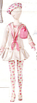 Click here to enlarge image and see more about item KWDO2: Knickerbocker Willow and Daisy Fashion Doll Outfit