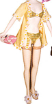 Click here to enlarge image and see more about item KWDO5: Knickerbocker Willow and Daisy Fashion Doll Outfit