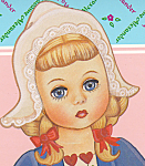 Click here to enlarge image and see more about item PDMA1: Madame Alexander BLONDE INTERNATIONAL SERIES PAPER DOLL