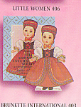 Madame Alexander Brunette INTERNATIONAL PAPER DOLL