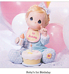 Click here to enlarge image and see more about item PM5: Ashton Drake Porcelain Doll Precious Moments Babys