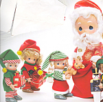 Click to view larger image of Precious Moments Doll Set Ho Ho Ho From the North Pole (Image1)