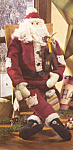 Click here to enlarge image and see more about item THT3: COUNTRY CHRISTMAS SANTA for the HOLIDAY