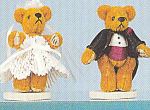 Click to view larger image of World of Miniature Bears Bride and Groom HELEN & HOWARD (Image1)