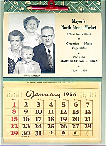1956 Iowa Family Grocery Store Calendar