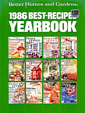 1986 Best-recipes Yearbook, Better Homes And Gardens