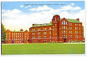 WISCONSIN: 1952 Wausau Hospital, Nurses Home (Image1)
