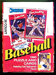 1990 Donruss Baseball Cards,  Box of 36 Packs, Never Searched!  (Image1)
