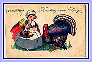 1925 Thanksgiving Turkey, Little Girl (Image1)