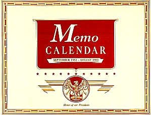 1952-53 Kellogg's 'homes Of Our Presidents' Calendar