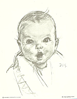 1931 Gerber Baby Original Advertising Lithograph