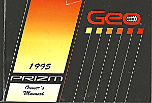 1995 Geo Prism Owner's Manual With Case
