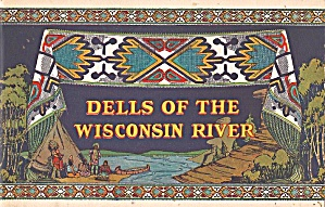 1936 Dells Of The Wisconsin River Travel Brochure, Colorful