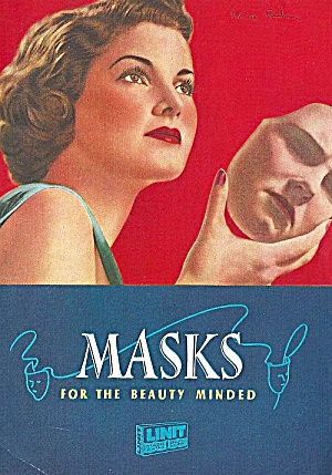 Linit, Masks For The Beauty Minded, 1940s: Who, How, Why Use Them?