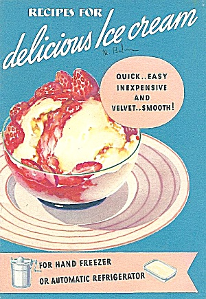 1936 Jello Ice Cream Powder Recipe Booklet