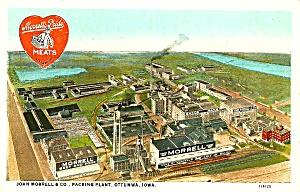 Vintage John Morrell Packing Plant, Ottumwa IA Postcard (Image1)