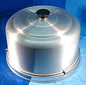 Vintage Mirro Aluminum Cake Carrier With Locking Lid