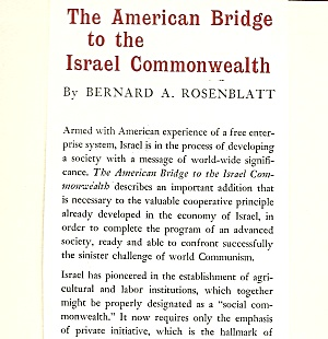 The American Bridge To The Israeli Commonwealth