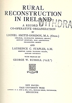 Rural Reconstruction In Ireland, 1919