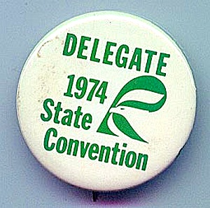 1974 Iowa Republican Convention Delegate Pin (Image1)