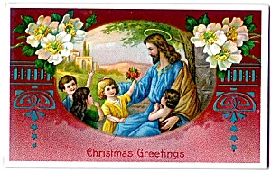 Christ With Children - Christmas Greetings, Germany