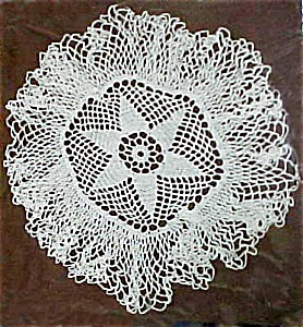 Neat Crocheted Doily, Full Edge