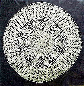 Flower-Like Pattern, Off-White Doily (Image1)