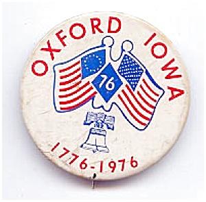 Oxford, Iowa, Centennial Button (Image1)