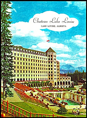 Menu Chateau Lake Louise, Alberta Canada 1957