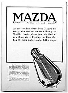 Illustrated Mazda Lamps Vintage Ad (Image1)