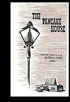 The Pancake House, Vintage Broiler Menu, Marshalltown Ia, 1958