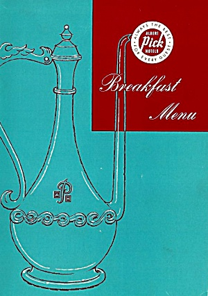 Capitol Room Breakfast Menu, The Lee House, Albert Pick Hotel, Washington Dc