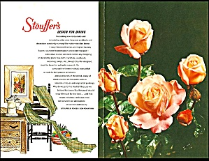 Stouffer's Vintage Restaurant Menu, Circa 1962