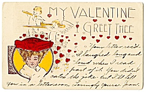 Valentine: Cherubs, Lady with Red Hat (Image1)