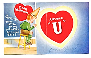Valentine: Dunce Answers Question