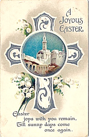 1913 Beautiful Cross, Lily Of Valley Postcard
