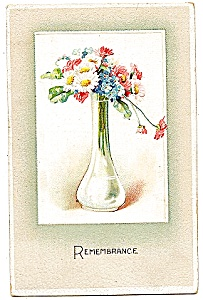 1911 Remembrance, Pretty Vase of Flowers (Image1)
