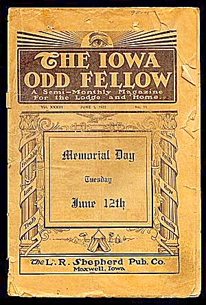1923 Iowa Odd Fellow Magazine (Image1)