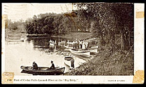 IOWA: 1909 Launch Fleet at the 'Big Eddy', Cedar Falls (Image1)