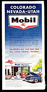 1962 Mobil Co-nv-ut Road Map